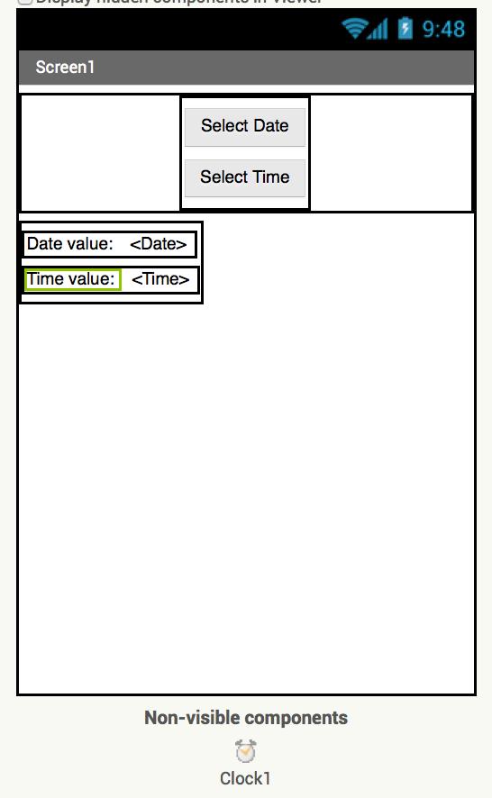 App inventor datepicker